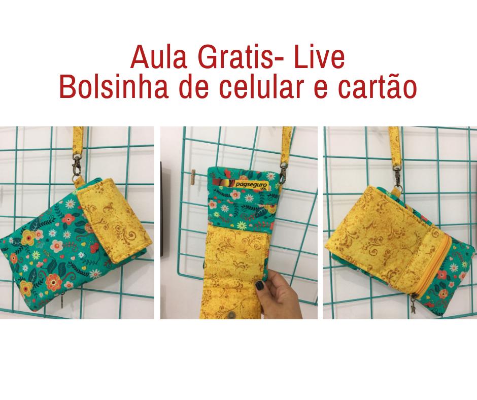 Aula Gratis- Bolsinha de Celular e Cartão